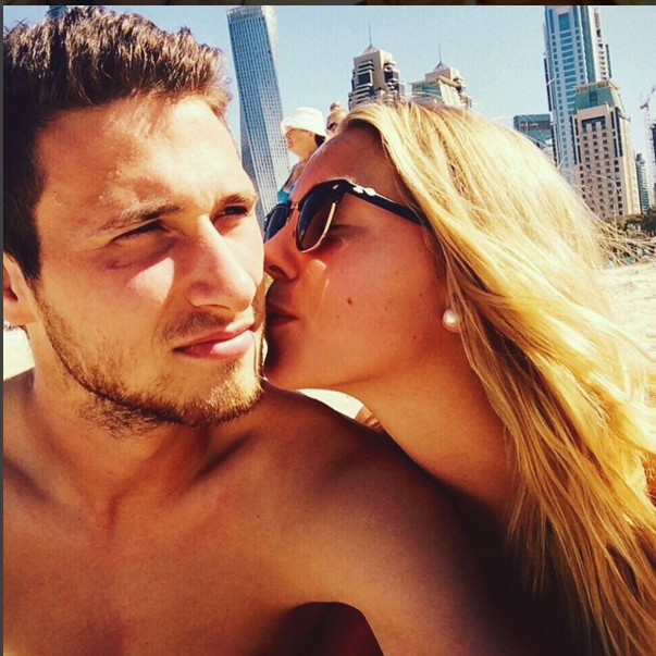 Carina Witthöft with her boyfriend Philipp, Photo: Instagram @carina_witthoeft