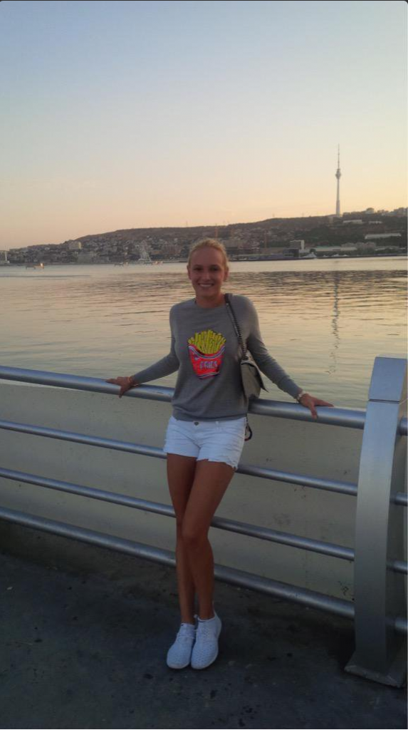 Donna Vekic in Baku, Photo Credit: Twitter @DonnaVekic