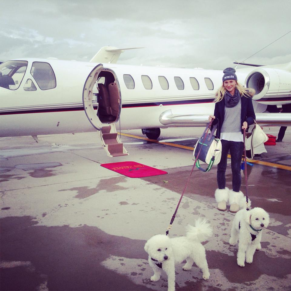 Olga Govortsova with her Dogs during winter times, Photo: Facebook