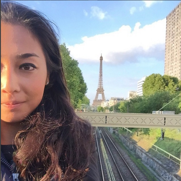 Zarina Diyas in Paris, Photo: Instagram @zarinadiya